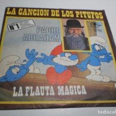 Dischi in vinile: SINGLE PADRE ABRAHAM. LA CANCIÓN DE LOS PITUFOS. FLAUTA MÁGICA CARNABY 1977 SPAIN (PROBADO SEMINUEVO. Lote 223794267