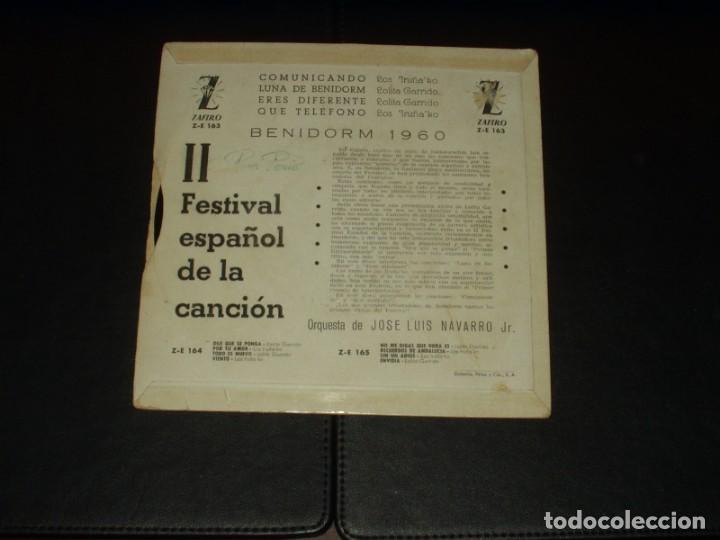 Discos de vinilo: II FESTIVAL DE LA CANCION DE BENIDORM EP COMUNICANDO+3 - Foto 2 - 223824353