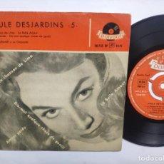 Discos de vinilo: PAULE DESJARDINS - EP SPAIN PS - EX * 1958 * EUROVISION FRANCE 1957 * LA BELLE AMOUR. Lote 223828342