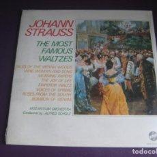 Disques de vinyle: JOHANN STRAUSS JR. - LOS MAS FAMOSOS VALSES - DOBLE LP PRECINTADO - ORQUESTA SALZBURGO - CLASICA. Lote 223828957
