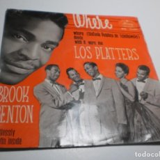 Discos de vinilo: SINGLE LOS PLATTERS. WHERE. WISH IT WERE ME / BROOK BENTON ENDLESSLY. HURTIN INSIDE. MERCURY 1960. Lote 223833038