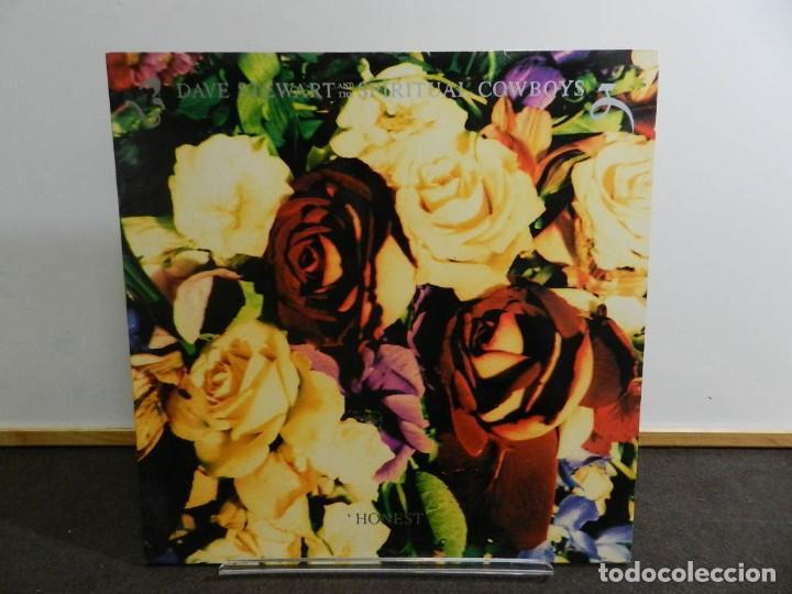 DISCO VINILO LP. DAVE STEWARD AND THE SPIRITUAL COWBOYS - HONEST. EDICIÓN ESPAÑA. 33 RPM. (Música - Discos - LP Vinilo - Electrónica, Avantgarde y Experimental)