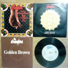 Discos de vinilo: LOTE 4 SG / EP: THE STRANGLERS: DON'T BRING HARRY + GOLDEN BROWN + ALWAYS THE SUN + GOLDEN BROWN. Lote 223836733