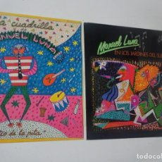 Discos de vinilo: LOTE DE 2 LP , MANUEL LUNA - EN LOS JARDINES DEL SUEÑO Y EL TÍO DE LA PITA, VER FOTOS. Lote 223839508