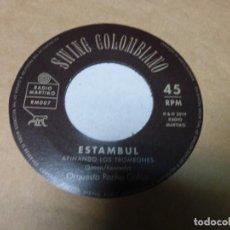 Discos de vinilo: RICAURTE ARIAS Y SU CONJUNTO, ORQUESTA PACHO GALAN - FIESTAS / ESTAMBUL. SINGLE VINILO NUEVO. Lote 223843837