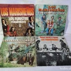 Discos de vinilo: LOS MARISMEÑOS, LOTE 4 SINGLES BUEN ESTADO VER DETALLES EN FOTOS E INFORMACION ADJUNTA. Lote 223847346