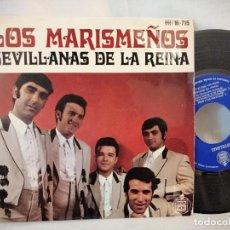 Discos de vinilo: LOS MARISMEÑOS EP SEVILLANAS DE LA REINA COMO NUEVO. Lote 223847707