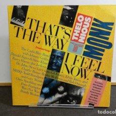 Disques de vinyle: VINILO LP. VARIOS - THAT'S THE WAY I FEEL NOW. A TRIBUTE TO THELONIUS MONK. EDICIÓN ALEMANIA. DOBLE. Lote 223849035
