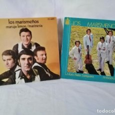 Discos de vinilo: LOS MARISMEÑOS LOTE 2 SINGLES A ESTRENAR VER TITULOS, DETALLES E INFORMACION ANEXA.. Lote 223849115