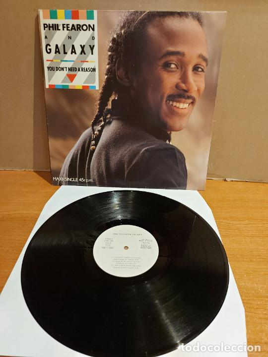 Discos de vinilo: PHIL FEARON AND GALAXY / YOU DONT NEED A REASON / MAXI SG-PROMO - ISLAND-1985 / LUJO. ****/**** - Foto 1 - 223854197