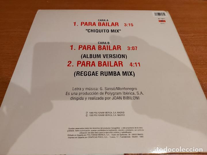 Discos de vinilo: AZUQUITA / PARA BAILAR (CHIQUITO MIX) / MAXI-SG - POLYDOR-1993 / CALIDAD LUJO. ****/**** - Foto 2 - 223854533
