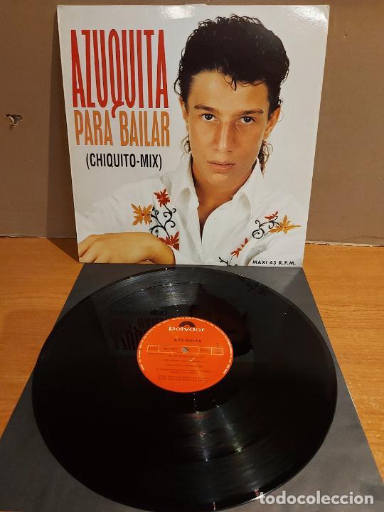 AZUQUITA / PARA BAILAR (CHIQUITO MIX) / MAXI-SG - POLYDOR-1993 / CALIDAD LUJO. ****/**** (Música - Discos de Vinilo - Maxi Singles - Flamenco, Canción española y Cuplé)