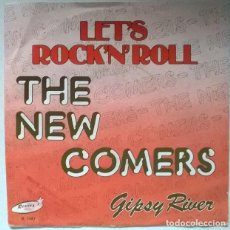 Disques de vinyle: THE NEW COMERS. LET'S ROCK'N'ROLL/ GIPSY RIVER. RONNEX, BELGIUM SINGLE. Lote 223872891