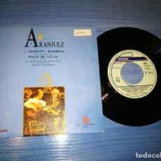 Discos de vinilo: PACO DE LUCIA CONCIERTO DE ARANJUEZ SINGLE VINILO PROMO DEL AÑO 1991 ORQUESTA CADAQUES EDMON COLOMER. Lote 207367340