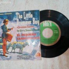 Discos de vinilo: EL PEQUEÑO TAMBORILERO .NOCHE DE PAZ ETC..CORO Y ORQUESTA DE HARRY SIMEONE 1965. Lote 223968222