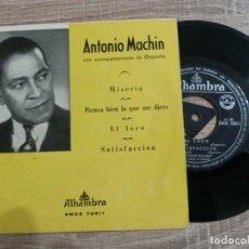 Discos de vinilo: ANTONIO MACHIN Y ORQUESTA.MISERIA.EL LOCO ETC.1964.. Lote 223969131