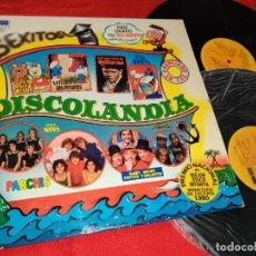 Disques de vinyle: DISCOLANDIA REGALIZ+PARCHIS+NINS+PAYASOS TELE 2LP 1980 BELTER BATALLA PLANETAS+PITUFOS+OSITO MISHA. Lote 268838819