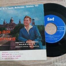 Discos de vinilo: JUAN RAMOS Y ORQUESTA MARAVELLA.1 FESTIVAL CANCION MEDITERRANEA 1959. Lote 223984247