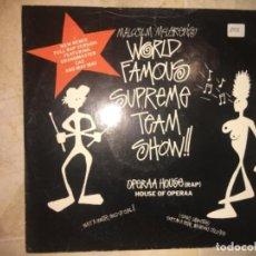 Discos de vinilo: MALCOM MCLAREN: WORLD FAMOUS SUPREME TEAM SHOW. REMIX. Lote 223985143