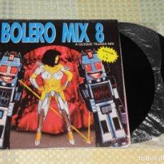 Discos de vinilo: BOLERO MIX 8 - QUIQUE TEJADA - 2-LPS - BLANCO Y NEGRO 1991. Lote 223986717