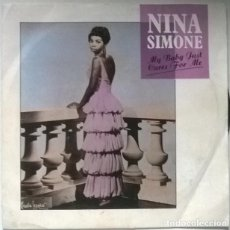Disques de vinyle: NINA SIMONE. MY BABY JUST CARES FOR ME/ LOVE ME OR LEAVE ME. CHARLY, UK 1985 SINGLE. Lote 223996777