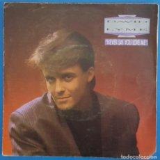Discos de vinilo: SINGLE / DAVID LYME / NEVER SAY YOU LOVE ME / MAX MUSIC S-300 / 1988. Lote 224003441