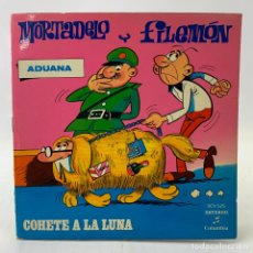Discos de vinilo: MORTADELO Y FILEMON - COHETE A LA LUNA - SINGLE - COMIC - COLUMBIA - SCV525. Lote 224018692