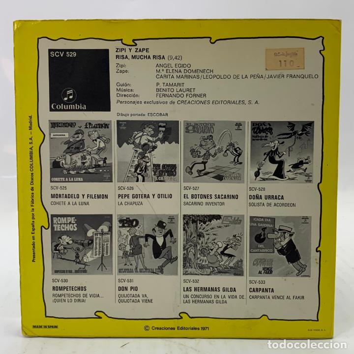 Discos de vinilo: ZIPI Y ZAPE - RISA, MUCHA RISA - SINGLE - COMIC - COLUMBIA - SCV529 - Foto 12 - 224018937