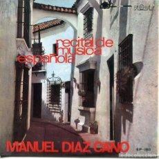 Disques de vinyle: MANUEL DIAZ CANO (RECITAL DE MUSICA ESPAÑOLA) / JUEGOS PROHIBIDOS / ASTURIAS + 2 (EP 1971). Lote 224020120