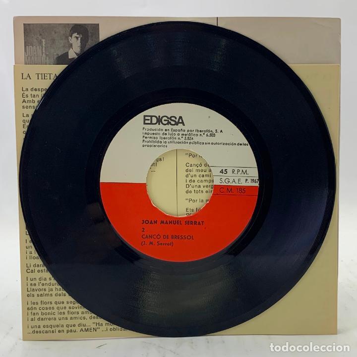 Discos de vinilo: JOAN MANUEL SERRAT - LA TIETA / CANÇÓ DE BRESSOL - SP EDIGSA CM 185 1967 - con letras - Foto 2 - 246715145