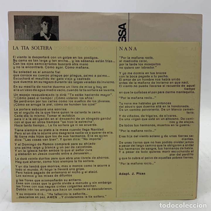 Discos de vinilo: JOAN MANUEL SERRAT - LA TIETA / CANÇÓ DE BRESSOL - SP EDIGSA CM 185 1967 - con letras - Foto 4 - 246715145