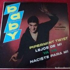 Discos de vinilo: BABY -PIPERMINT TWIST EP 1962 COMPLETO CON TRICENTER - ROCK N ROLL. Lote 224072717
