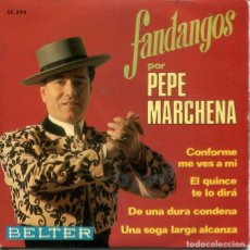 Discos de vinilo: PEPE MARCHENA / CONFORME ME VES A MI / EL QUINCE TE LO DIRA + 2 (EP 1969). Lote 242055215