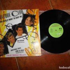 Discos de vinilo: CULTURE CLUB DO YOU REALLY WANT TO HURT ME MAXI SINGLE VINILO DEL AÑO 1983 ESPAÑA BOY GEORGE 3 TEMAS. Lote 224084712