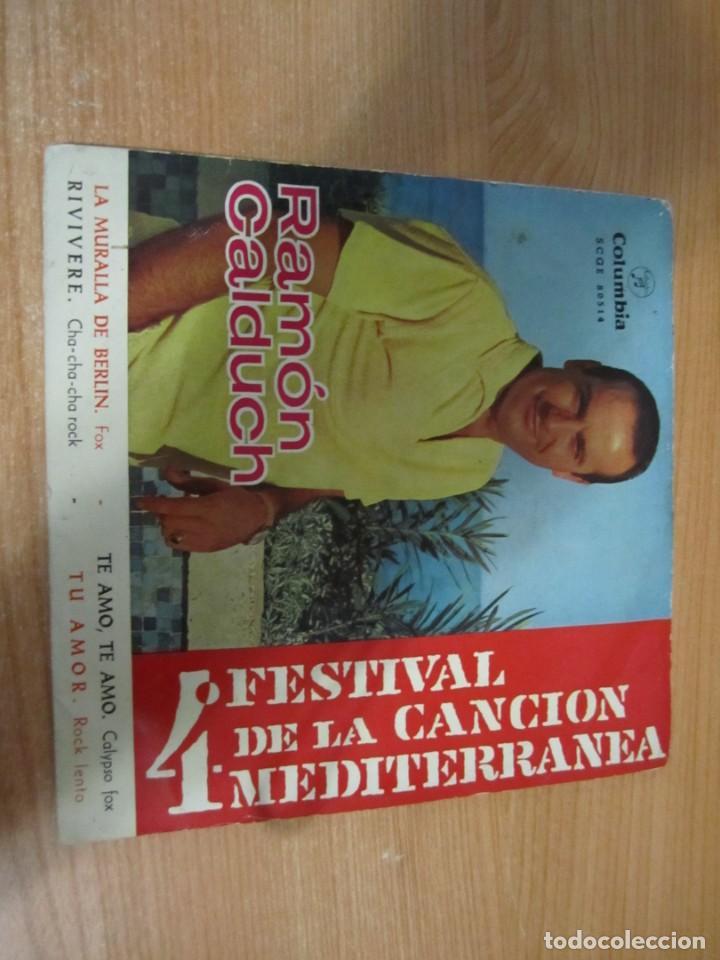 Discos de vinilo: lote discos vinilo single ramon calduch grandioso festival cancion mediterranea la muralla de berlin - Foto 2 - 224105186
