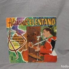 Discos de vinilo: SINGLE ADRIANO CELENTANO-CHE DRITTA!-BUONA SERA SIGNORINA..M1828-AÑO 1961-DEFECTO CARÁTULA-VER FOTOS. Lote 224110616