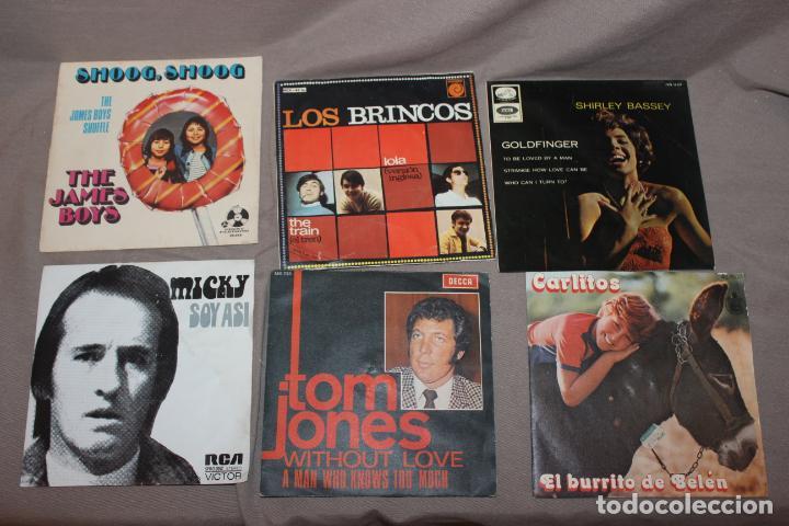 Discos de vinilo: Lote 40 singles-Pop-Rock-Nacional-Internacional-Humor-Eurovisión-Títulos en fotos adjuntas - Foto 2 - 224112473