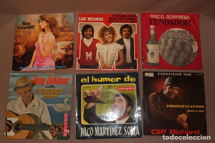 Discos de vinilo: Lote 40 singles-Pop-Rock-Nacional-Internacional-Humor-Eurovisión-Títulos en fotos adjuntas - Foto 6 - 224112473