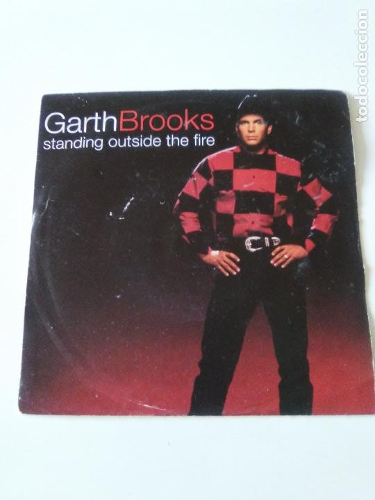 GARTH BROOKS STANDING OUTSIDE THE FIRE / THE NIGHT WILL ONLY KNOW ( 1994 LIBERTY UK ) (Música - Discos - Singles Vinilo - Country y Folk)