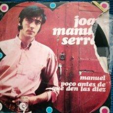 """Discos de vinilo: JOAN MANUEL SERRAT """" POCO ANTES DE LAS DÍEZ"""". Lote 224117783"""