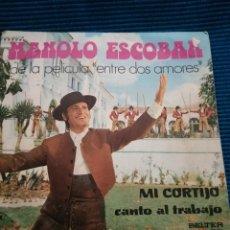 "Discos de vinilo: MANOLO ESCOBAR ""ENTRE DOS AMORES"". Lote 224122350"