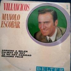 Discos de vinilo: MANOLO ESCOBAR VILLANCICOS. Lote 224123381