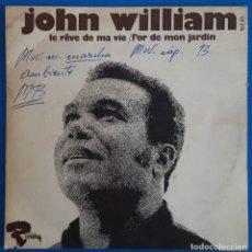 Discos de vinilo: SINGLE / JOHN WILLIAM / LE RÊVE DE MA VIE - L'OR DE MON JARDIN / RIVIERA 121274 / 1969 PROMO FRANCIA. Lote 224129020
