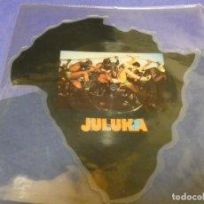 Discos de vinilo: CAJJ89 MAXI SINGLE 12 SHAPED PICTURE DISC JULUKA, JOHNNY CLEGG SAFARI RECORDS UK. Lote 224138021