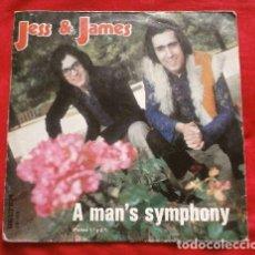 Discos de vinilo: JESS & JAMES (SINGLE 1972) A MAN'S SYMPHONY (PARTE 1ª Y 2ª). Lote 224139745