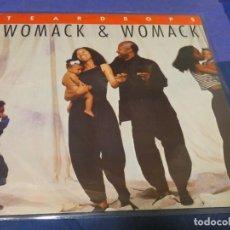 Discos de vinilo: CAJJ89 MAXISINGLE 12 PULGADAS UK BUEN ESTADO WOMACK AND WOMACK TEARDROPS. Lote 224139782