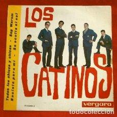 Discos de vinilo: LOS CATINOS (EP 1963) TODOS LOS CHICOS Y CHICAS - NACISTE PARA MI - SAG WARUM - SE OCULTA EL SOL. Lote 224140892