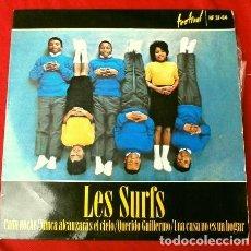 Discos de vinilo: LES SURFS (EP. 1964) CHAQUE NUIT (CADA NOCHE) TU N'IRAS PAS AU CIEL - SACRE JOSH (QUERIDO GUILLERMO). Lote 224141323
