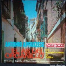 Discos de vinilo: VINILO - ANTONIO APRUZZESE - BULERIAS/FARRUCA/ZAMBRA (CURIOSA FUNDA INTERIOR DEL DISCO). Lote 224148207