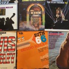 Discos de vinilo: ( 6 X 10€) LOTE COMPUESTO POR LOS 6 LP'S MANUEL GAS JOHNNY HURRICANES ELVIS PRESLEY. Lote 224151037